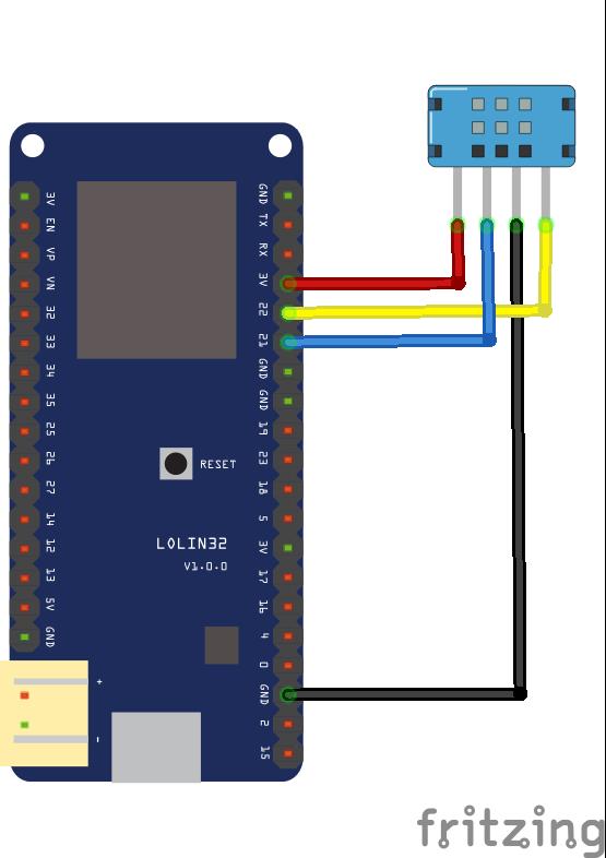 DHT12 humidity temperature sensor and ESP32 example #electronics