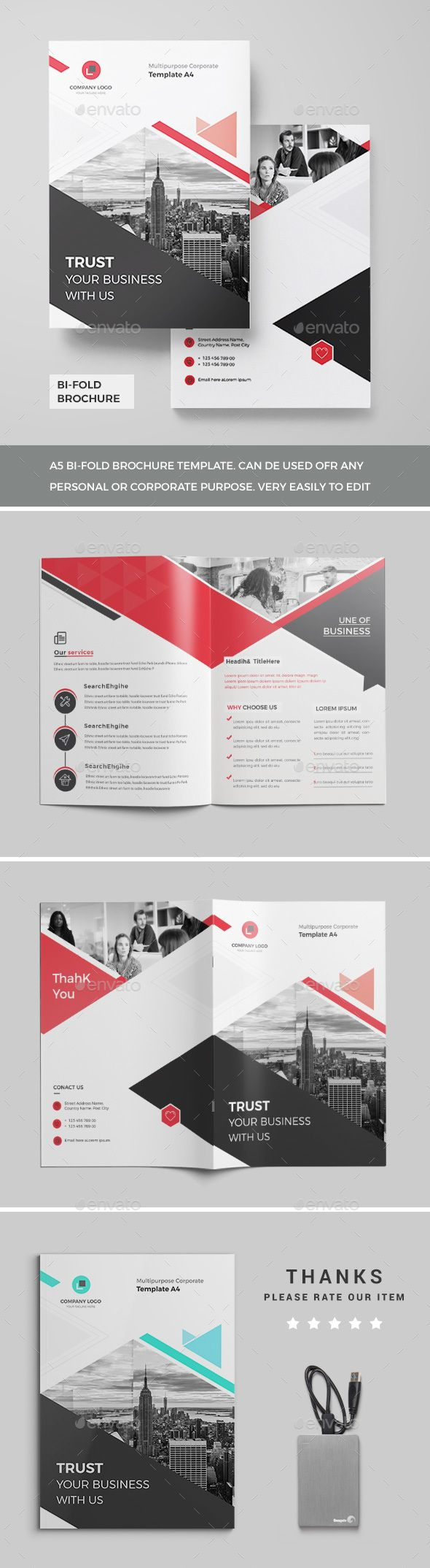 corporate bi fold brochure corporate brochure pinterest