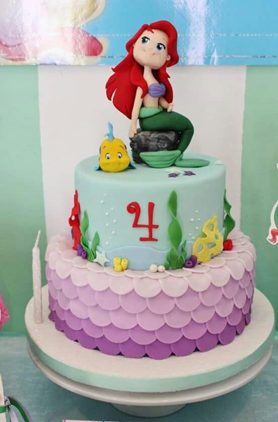 Hermosa sirenita Pinterest Mermaid Mermaid parties and Cake