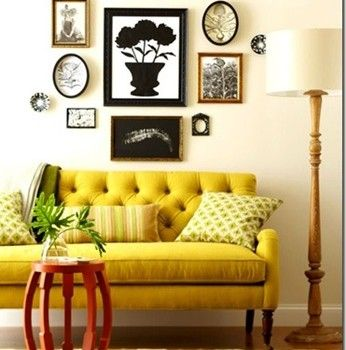 Vintage yellow couch - May 2013 Color of the Month - Lemon Zest ...