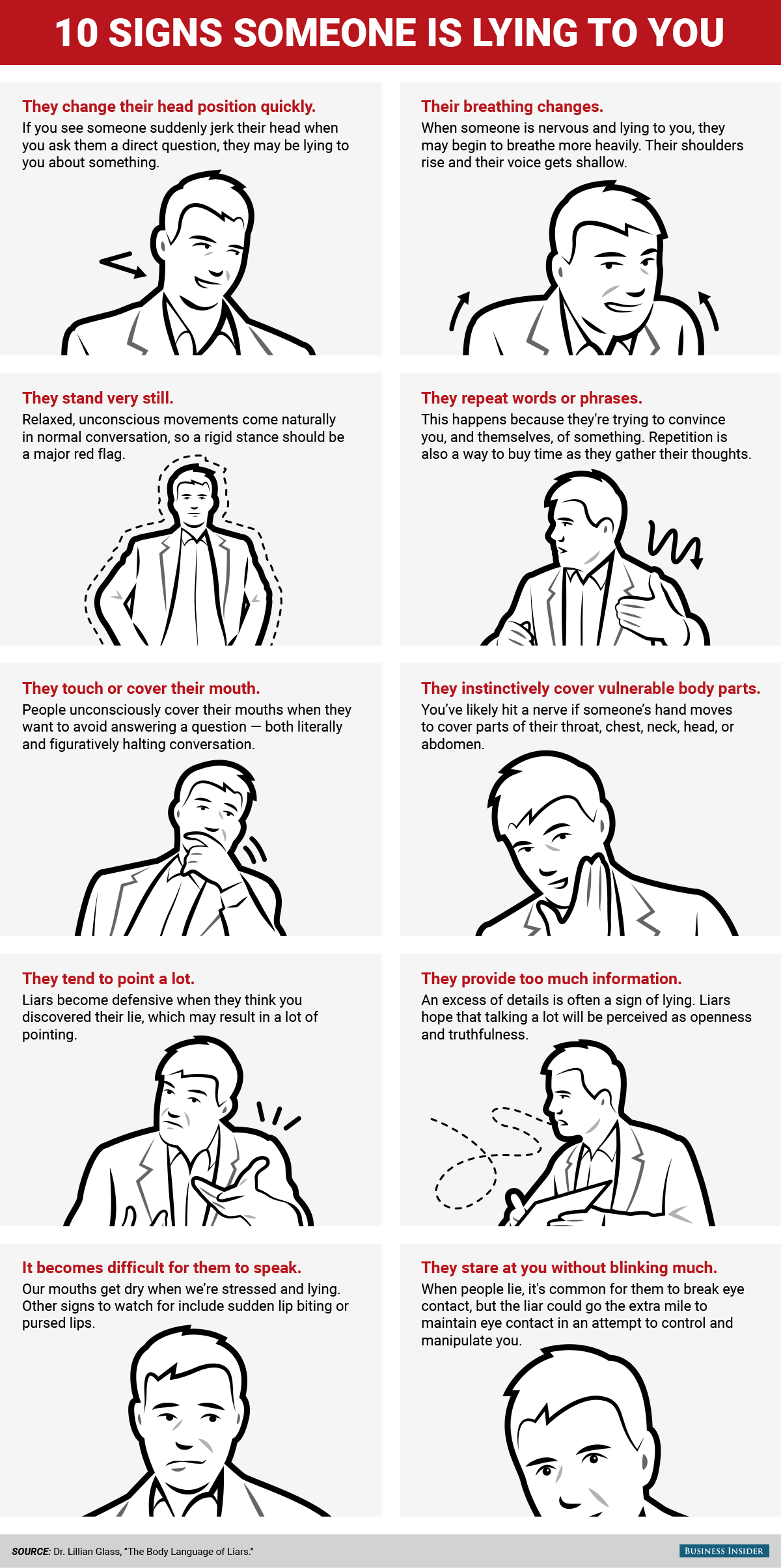 Body language signs of nervousness