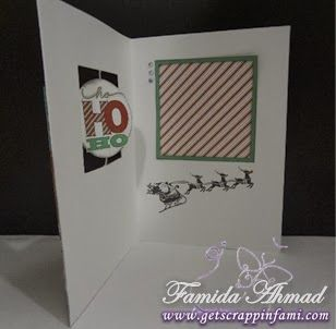 Get Scrappin: Sparkle & Shine + Frosted Holiday Cards #SparkleAndShine #C1567SantaClaus #SpinnerCard - card inside