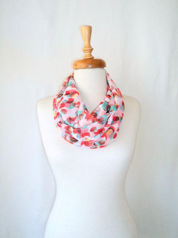 chunky scarf, Loop Scarf, women scarf, infinity Scarf, Dotto Scarf ...