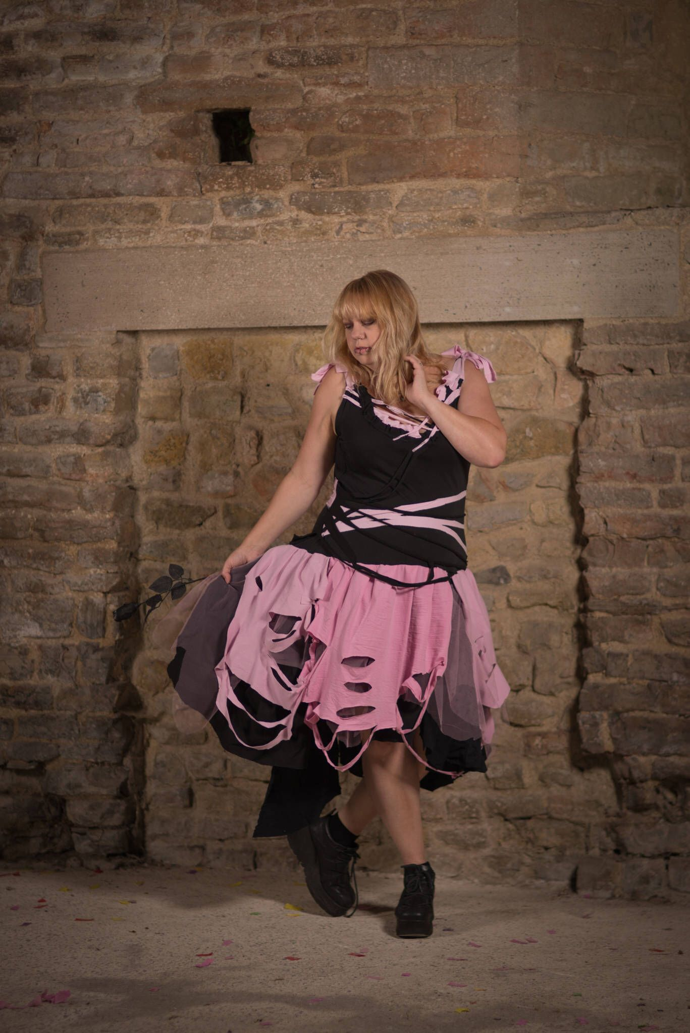 Black raggedy gothic fairy tutu