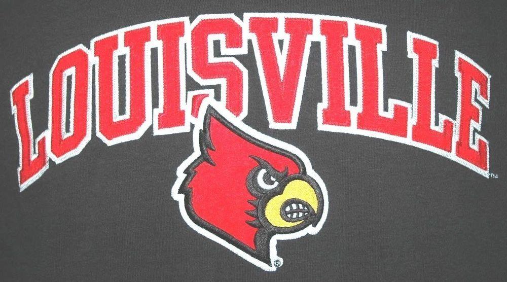 Louisville University Cardinals Adult Small Black Hoodie