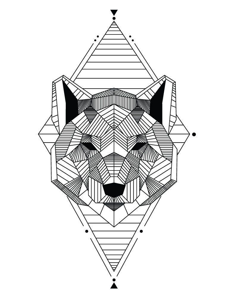 Coloriage Chien Realiste.A Impri Coloriage Animaux Geometrique Univerthabitat