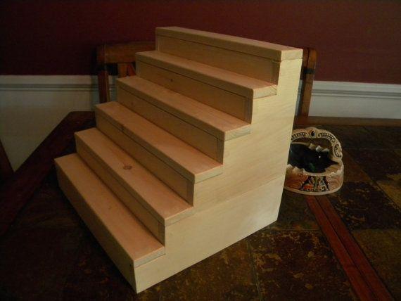 Step Display Shelf Display Your Treasures By CustomWoodConcepts, $55.00