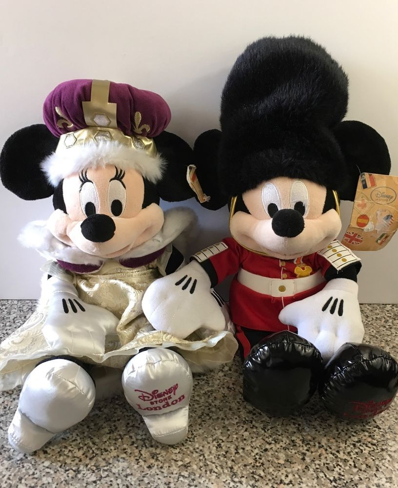 Disney Minnie Mouse Queen Soft Toy London Disney Store Mickey Mouse