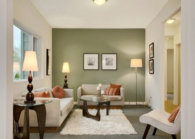 Living room paint ideas with accent wall for the home for Idea for painting living room