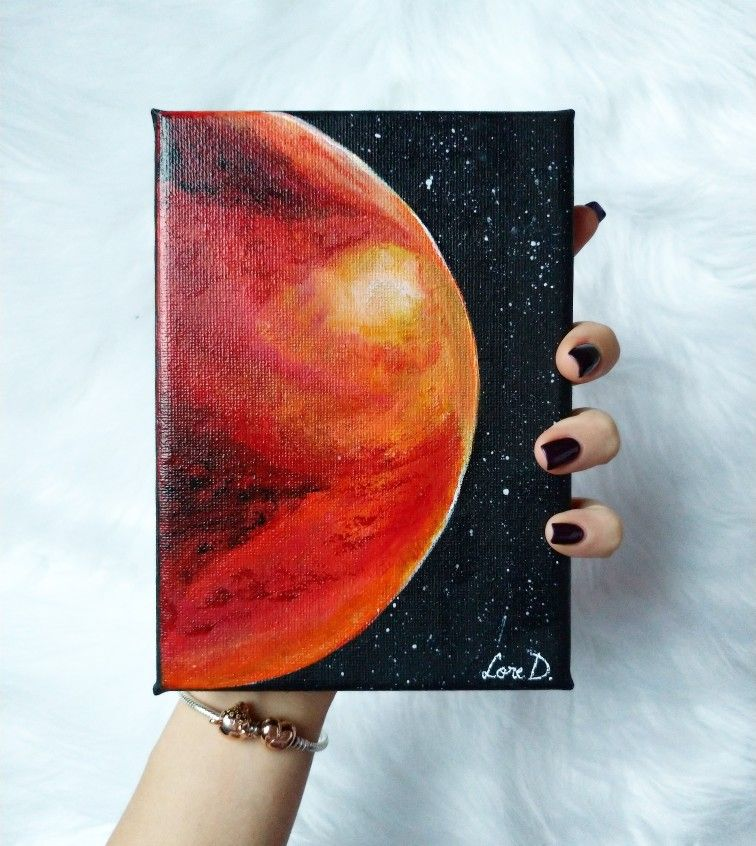 Planet Mars Planet Painting Art Drawings Simple Painting Art Projects