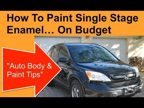 How To Paint A Car With Single Stage Enamel Paint Http Www Learnautobodyandpaint Com Auto Body Auto Body Repair Automotive Paint