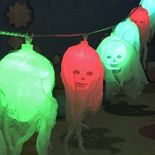 Halloween Deko Licht Morbuy 10 Led Schadel Lichterkette Gruselige Schadel Led Lampen Batteriebetrieben Halloween Deko Licht Dekorative Lichterketten Led Lampe