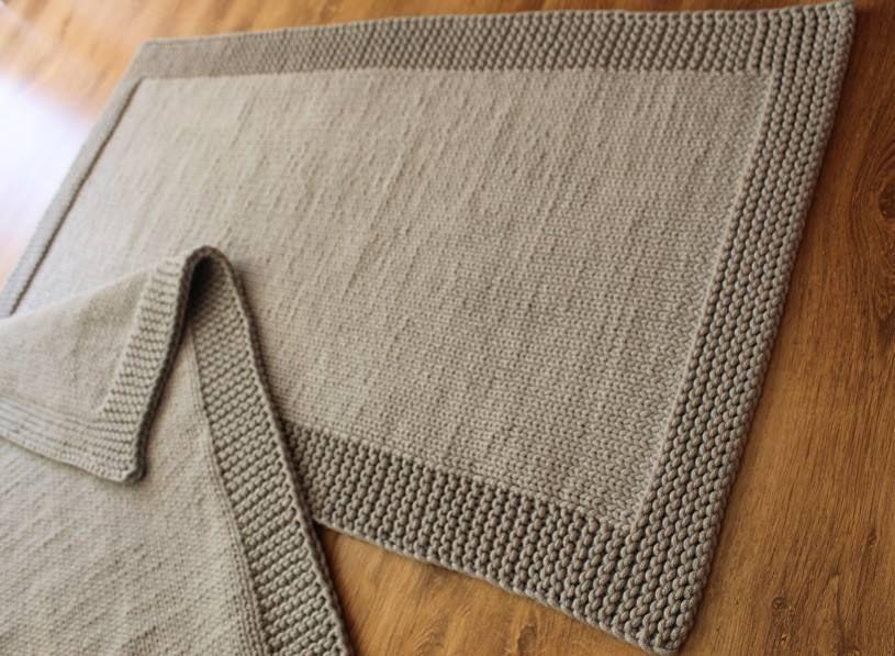 Dywan Ręcznie Robiony Jasny Szary Ręcznie Robione Dywany