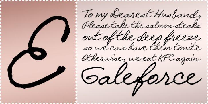 Galeforce BTN font download