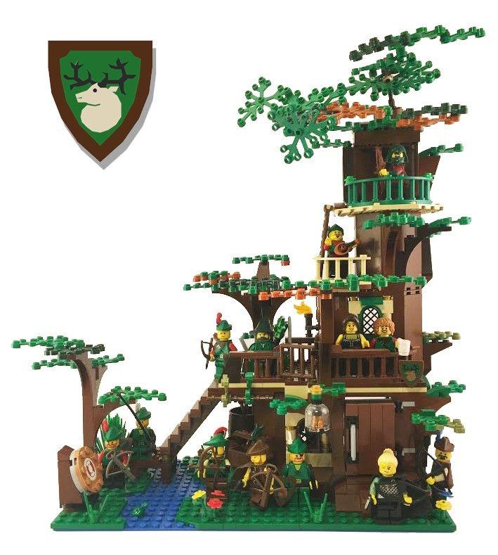 Custom Lego Forestmens Hideout Moc Lego Ownz Lego Tree Lego