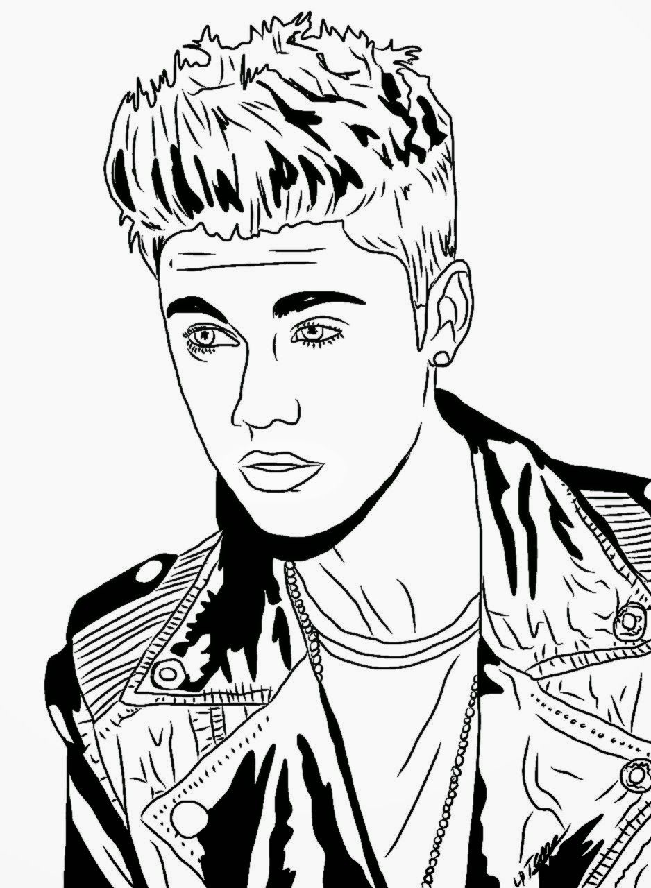 Justin Bieber Coloring Pages To Print Picture 4 550x550jpg Within ...