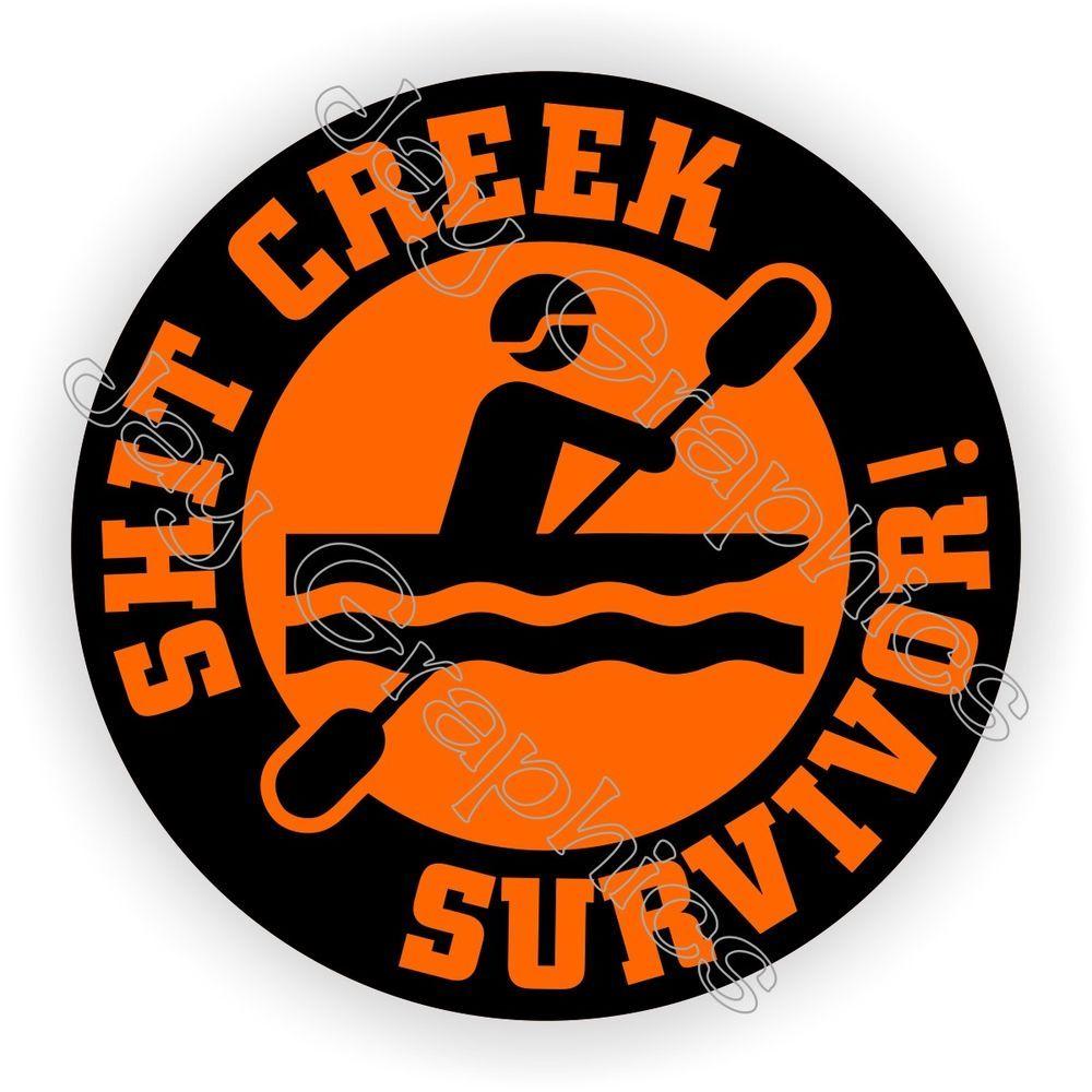 Details about hit Creek Survivor Funny Helmet Sticker