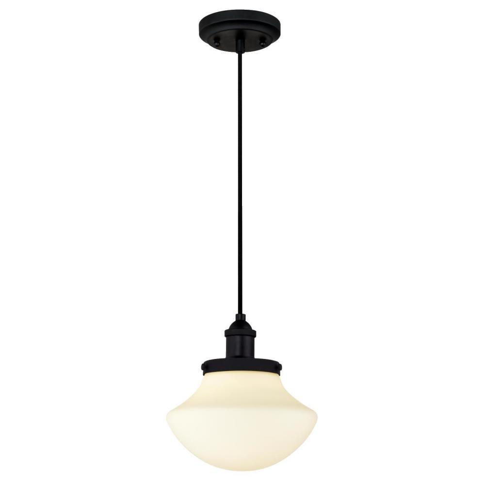 black mini pendant light. Westinghouse 1-Light Matte Black Mini Pendant Light L