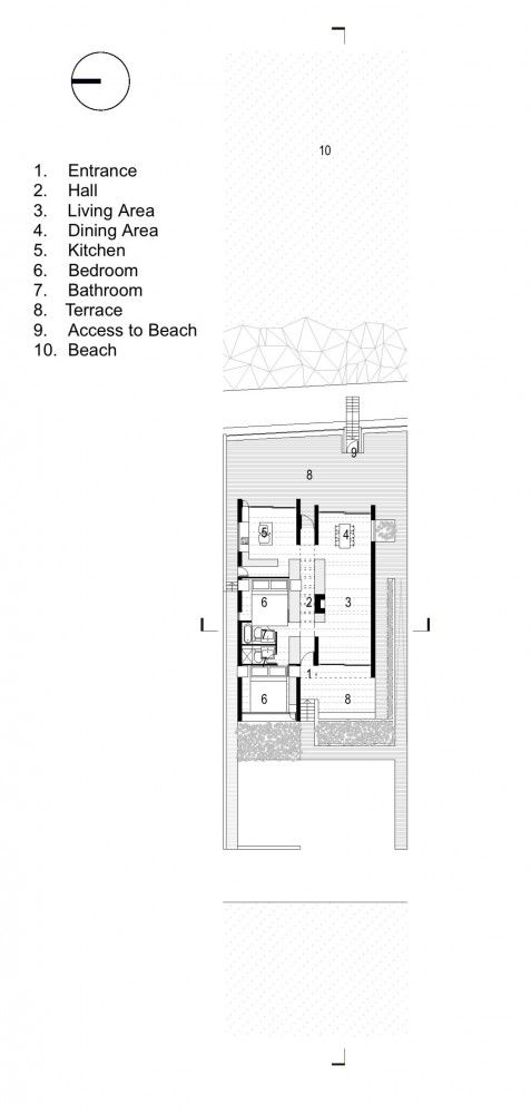 Seaside House A2 Architects Neat And Efficient Planning Seaside House Modern Floor Plans How To Plan