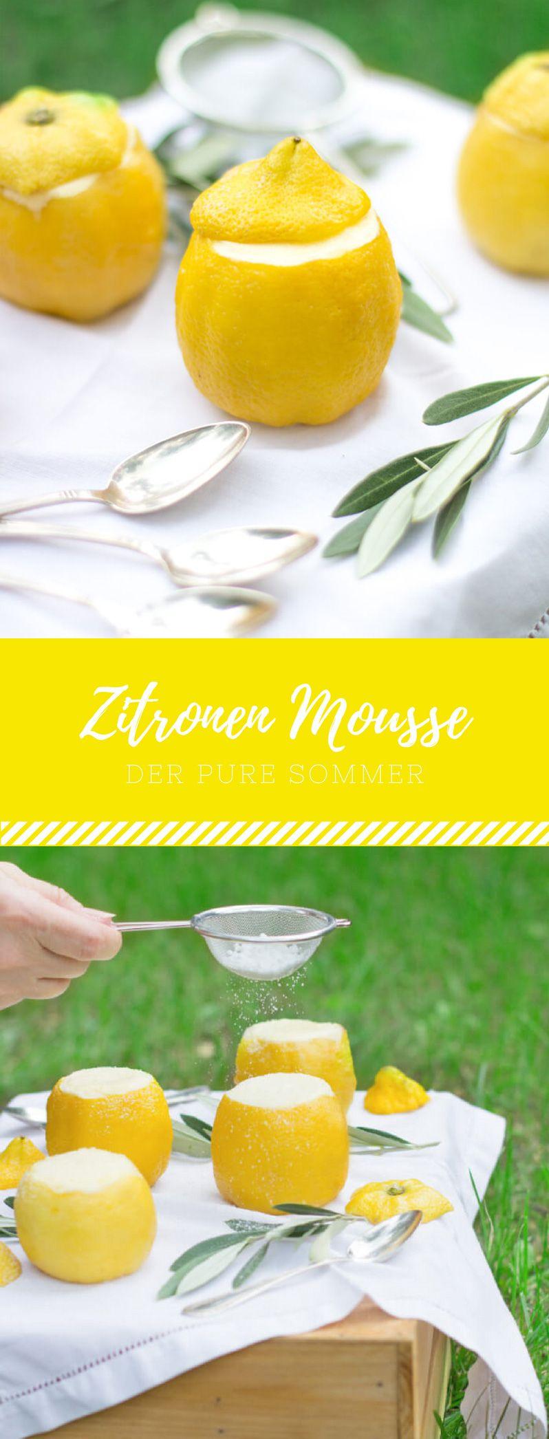 Zitronen Mousse ist das beste Dessert für den Sommer. Fruchtig und leicht ist es ein super einfaches Rezept. #grilleddesserts