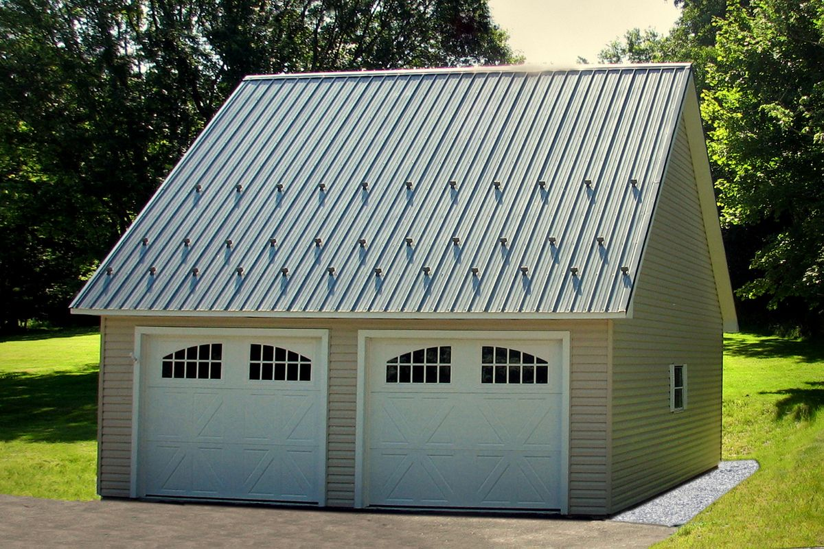Standard Two Car Garages Prefab Garages Garage Building Plans Prefab