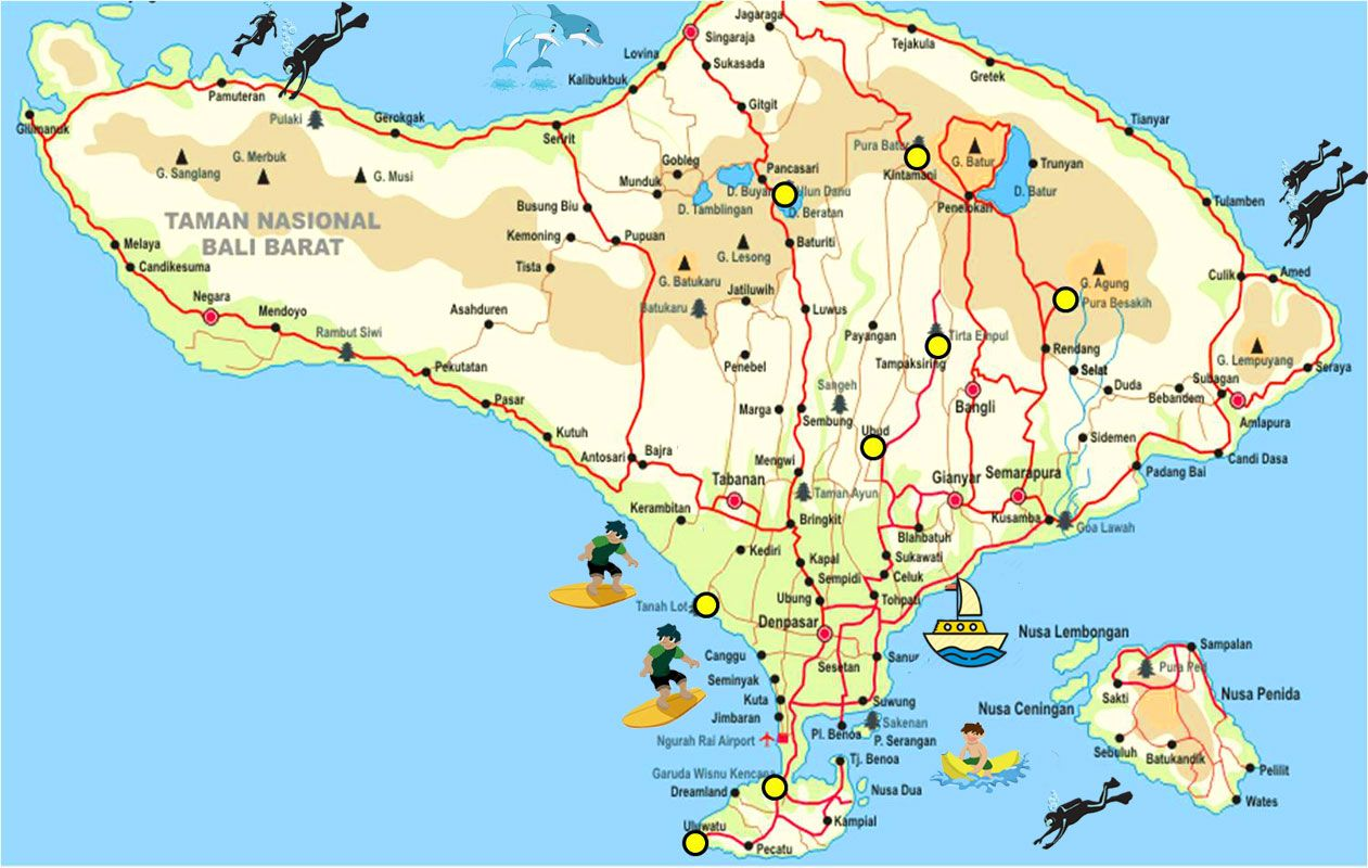 Bali Map Provides Complete Bali Tourism Maps As Travel