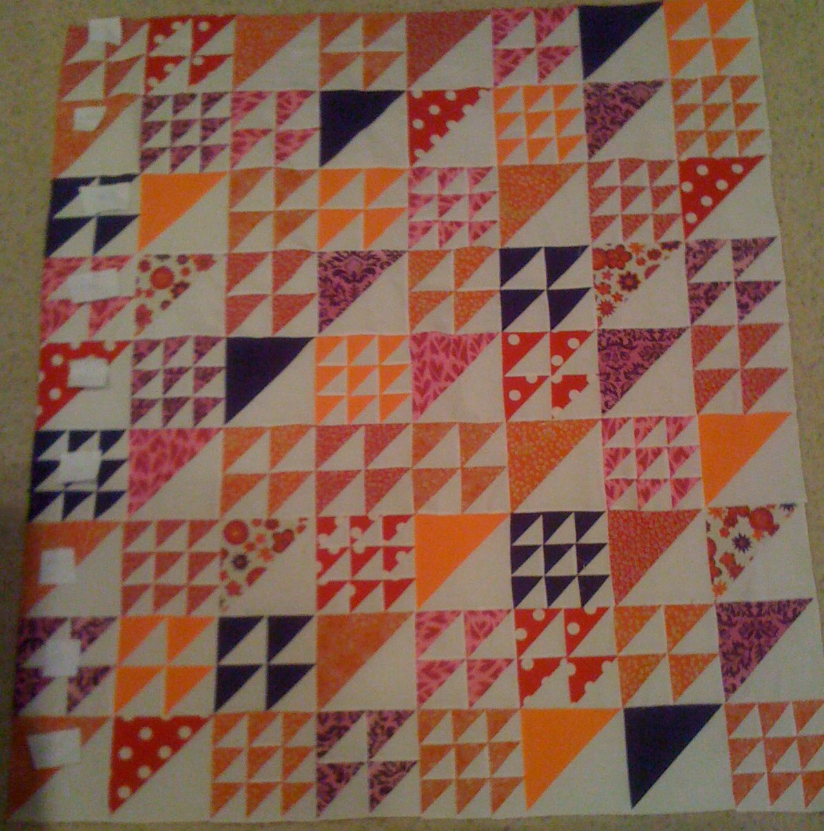half square triangles quilt | After the half square triangles were ... : half square triangle quilt - Adamdwight.com