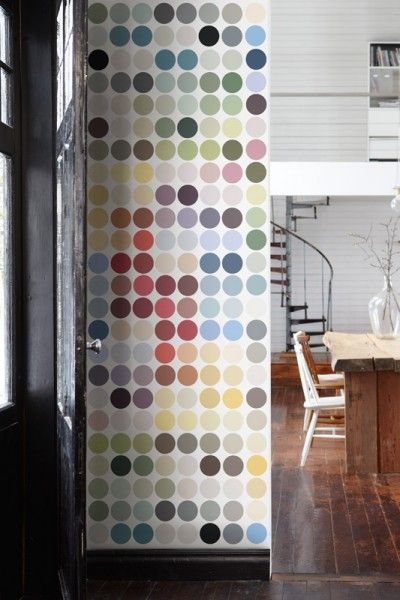 Palette (P152401-W) - Mr Perswall Wallpapers - A digital print image of geometric colourful spots. Total mural size - 180cm wide x 265cm high. 128 EUR
