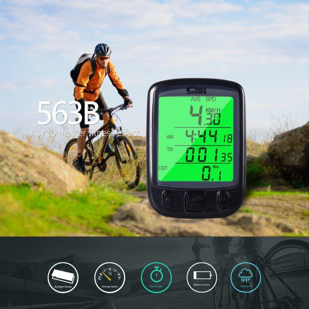 Sunding Sd563b Waterproof Bicycle Computer Bike Speedometer Lcd