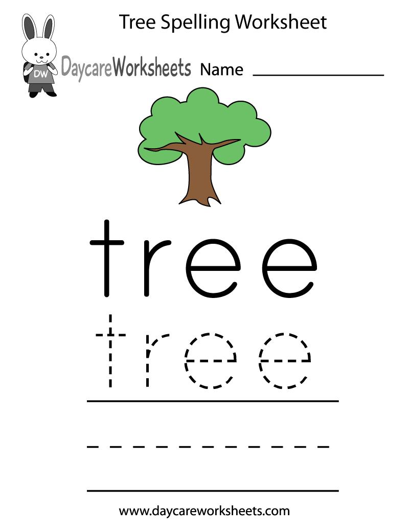 Kindergarten spelling worksheets Awesome