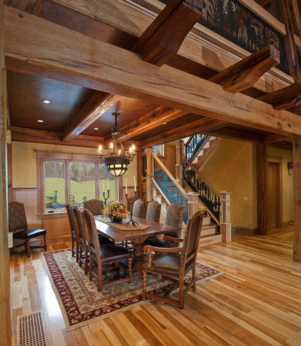 An Update On My Log Cabin Renovation: Painted Beam Ceiling Design, Pictures, Remodel, Decor And