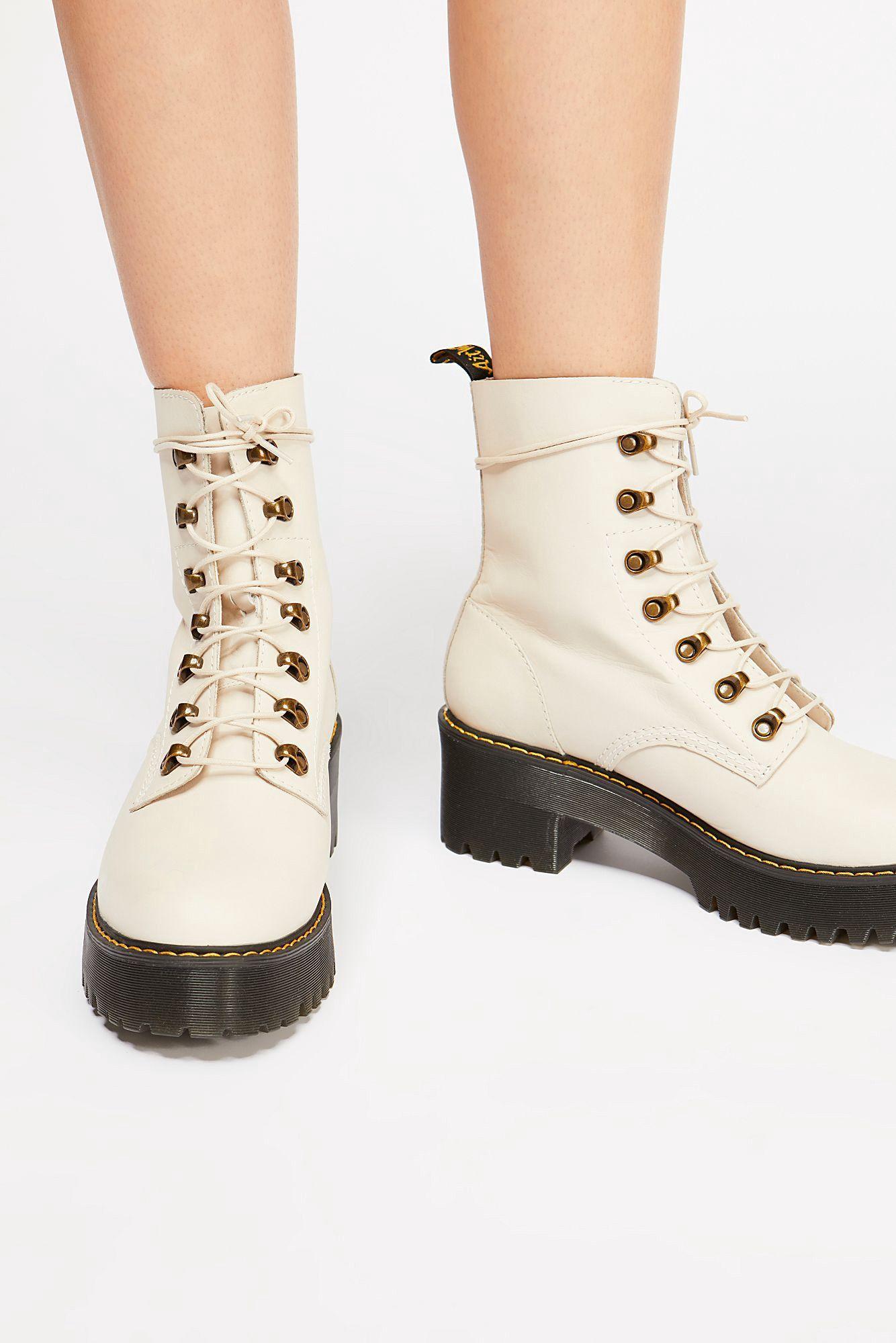 40ba67b85ee Free People Dr. Martens Leona Platform Ankle Boot - Black 9 Yellow ...