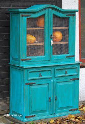 20 pintar muebles azul turquesa muebles como - Pintar muebles viejos ...
