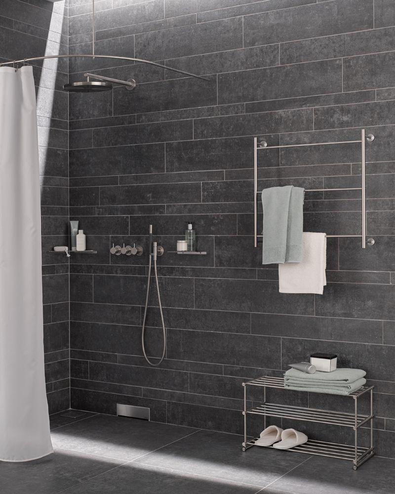 Handtuchregal Und Handtuchablage In Edelstahl Design Handtuchregal Regal Regal Industrial