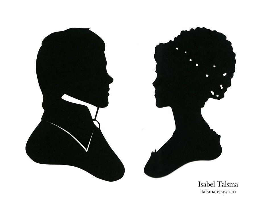 Pride Prejudice Elizabeth Bennet And Fitzwilliam Darcy Handcut