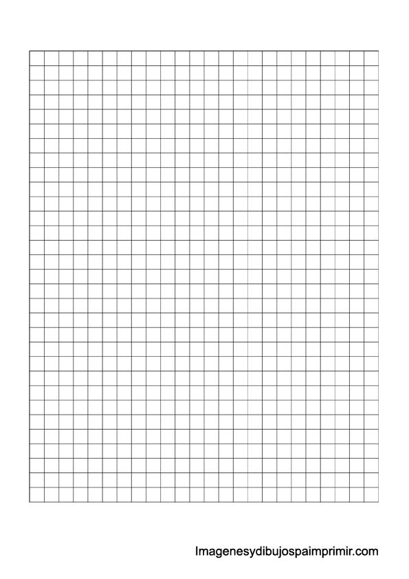 Folios cuadriculados para imprimir  Imagenes para imprimir