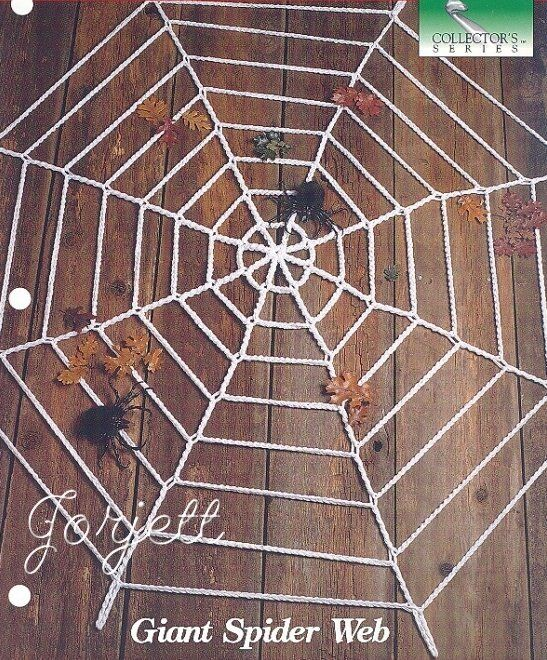 Giant Spider Web In 3 Sizes Holiday Crochet Pattern Holiday Crochet Patterns Holiday Crochet Halloween Crochet Patterns