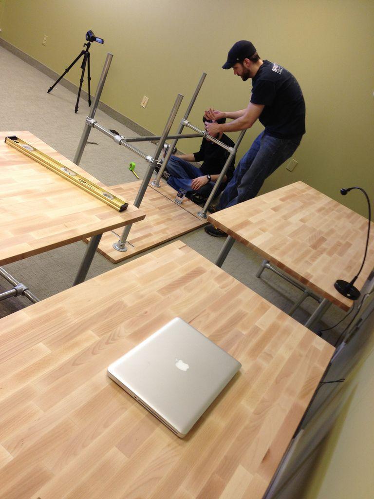 sitting standing desk adjustable height office space in 2019 desk ikea standing desk diy. Black Bedroom Furniture Sets. Home Design Ideas