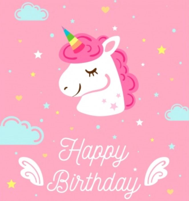 Unicorn Happy Birthday Kindergeburtstag Einhorn Geburtstag