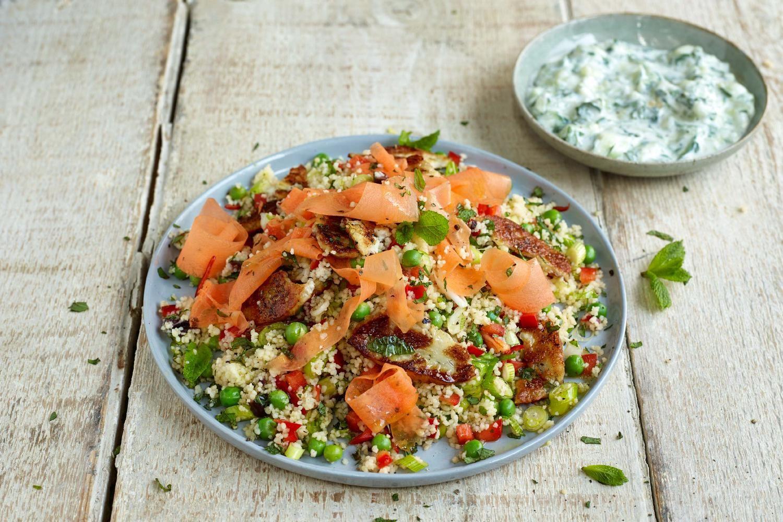 Jamies Minz Couscous Salat Jamie Oliver Pinterest