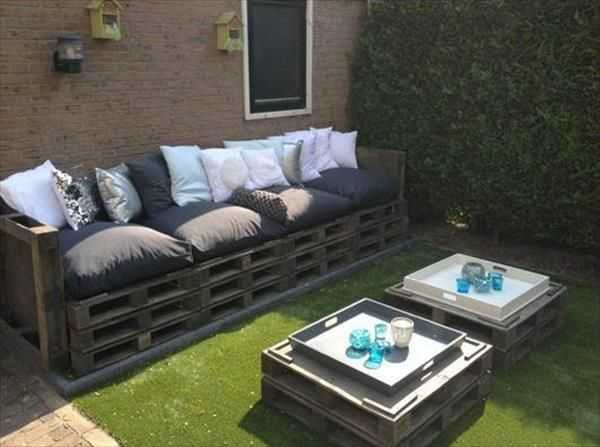 Outdoor Patio Furniture Made From Pallets diy pallet patio furniture | pallet furniture plans | garden