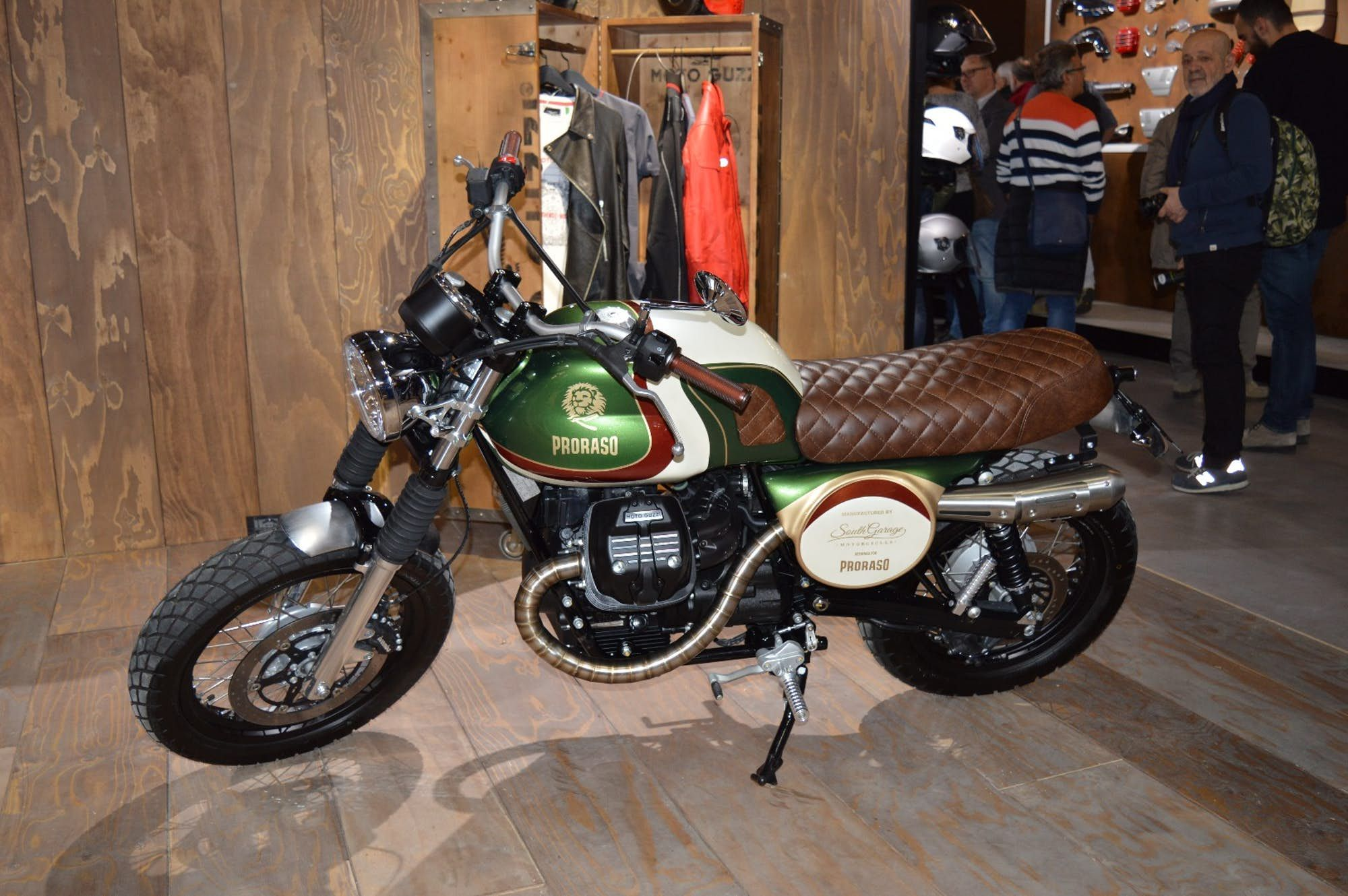 A Moto Guzzi V7 Customized By South Garage Motorcycles On