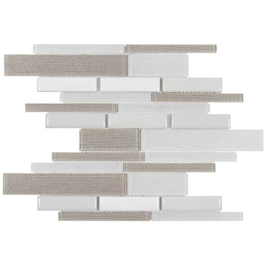 Elida Ceramica Urban Lifestyle Blended Linear Mosaic Stone And Gl Wall Tile Common 12