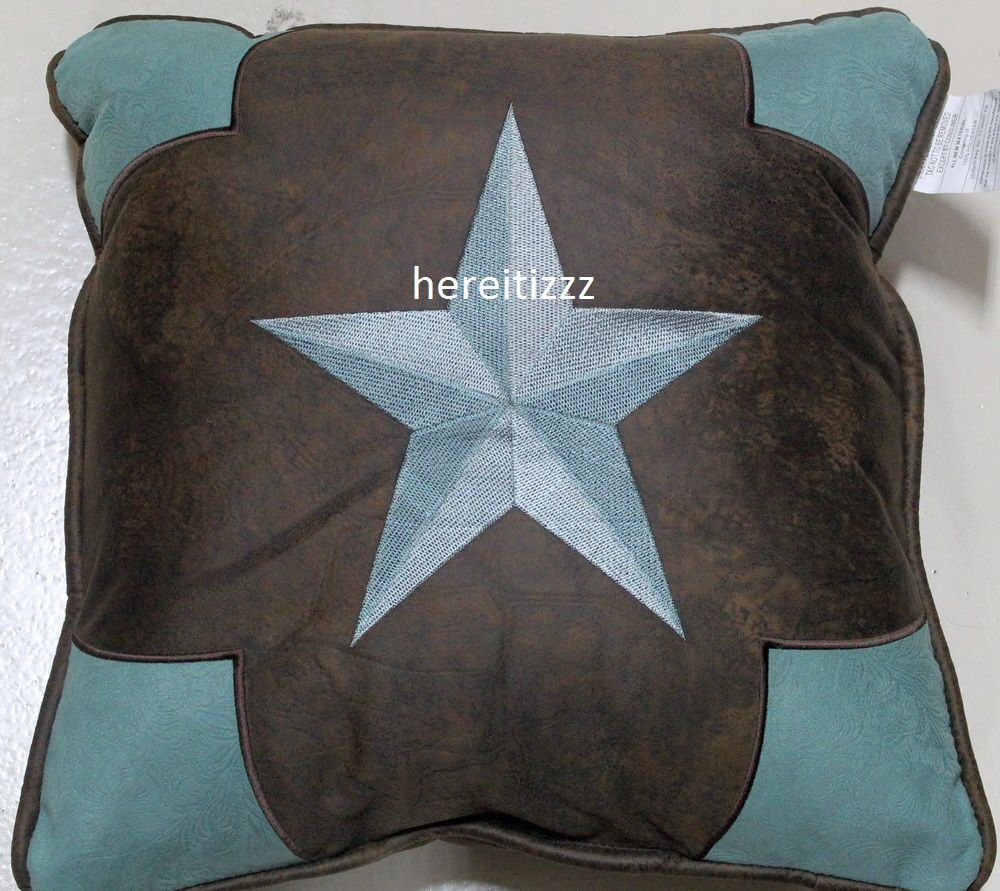 down of turquoise red brown gallery surya filled western pillows pillow decorative and