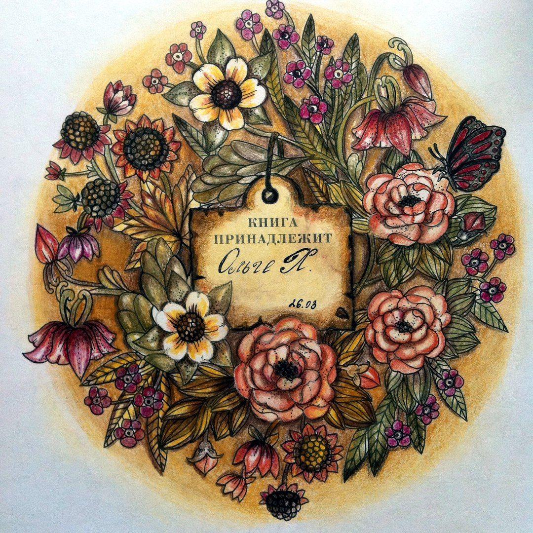 Раскраски | Зачарованный лес | Таинственный сад | Раскраски