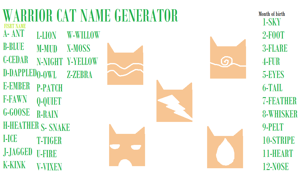 Snake Nose Warrior Cats Name Generator Warrior Cats Warrior Cat Names