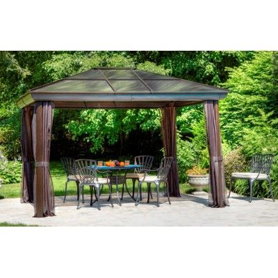Four Seasons 12 X 16 Gazebo With Screening Aluminum Gazebo Screened Gazebo Patio Gazebo