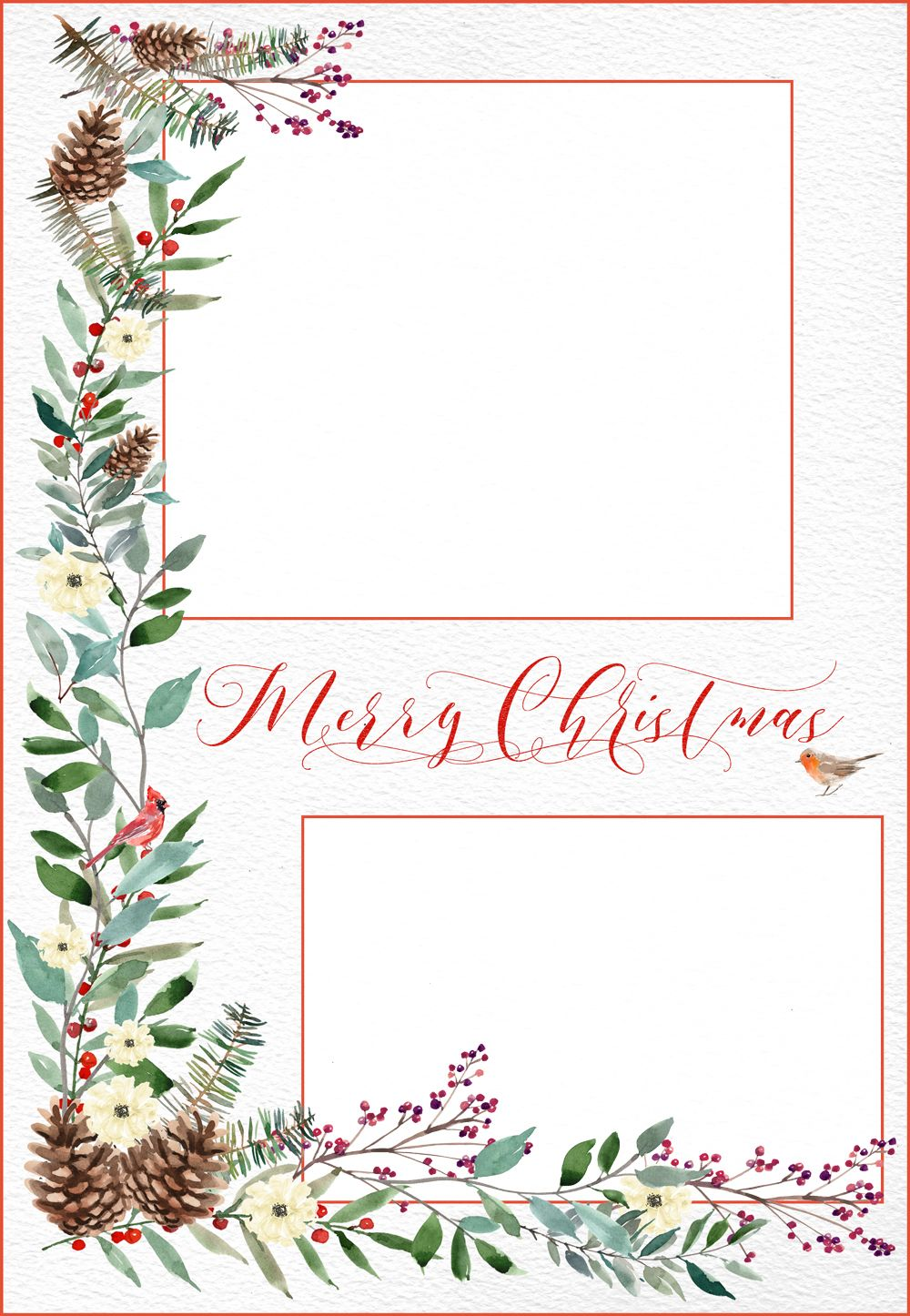 Woodland Christmas Card Template Free Digital Goodie Digital Christmas Cards Christmas Card Templates Free Free Christmas Photo Card Templates