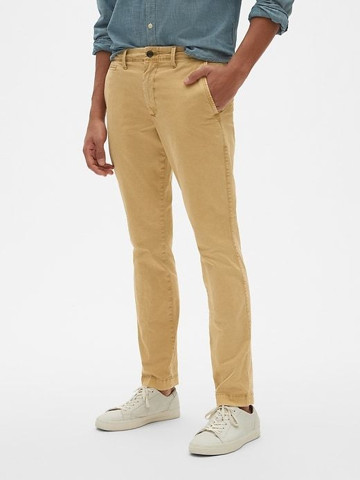 b3e278577edef Gap Men's Vintage Khakis In Skinny Fit With Gapflex Dried Straw in ...