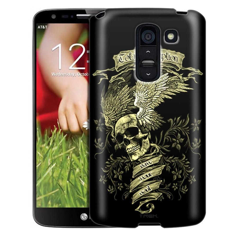 LG G2 Slim Case Skull Wing Green on Black Slim Case
